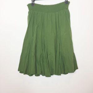 Anthropologie Fei olive green peasant skirt XS